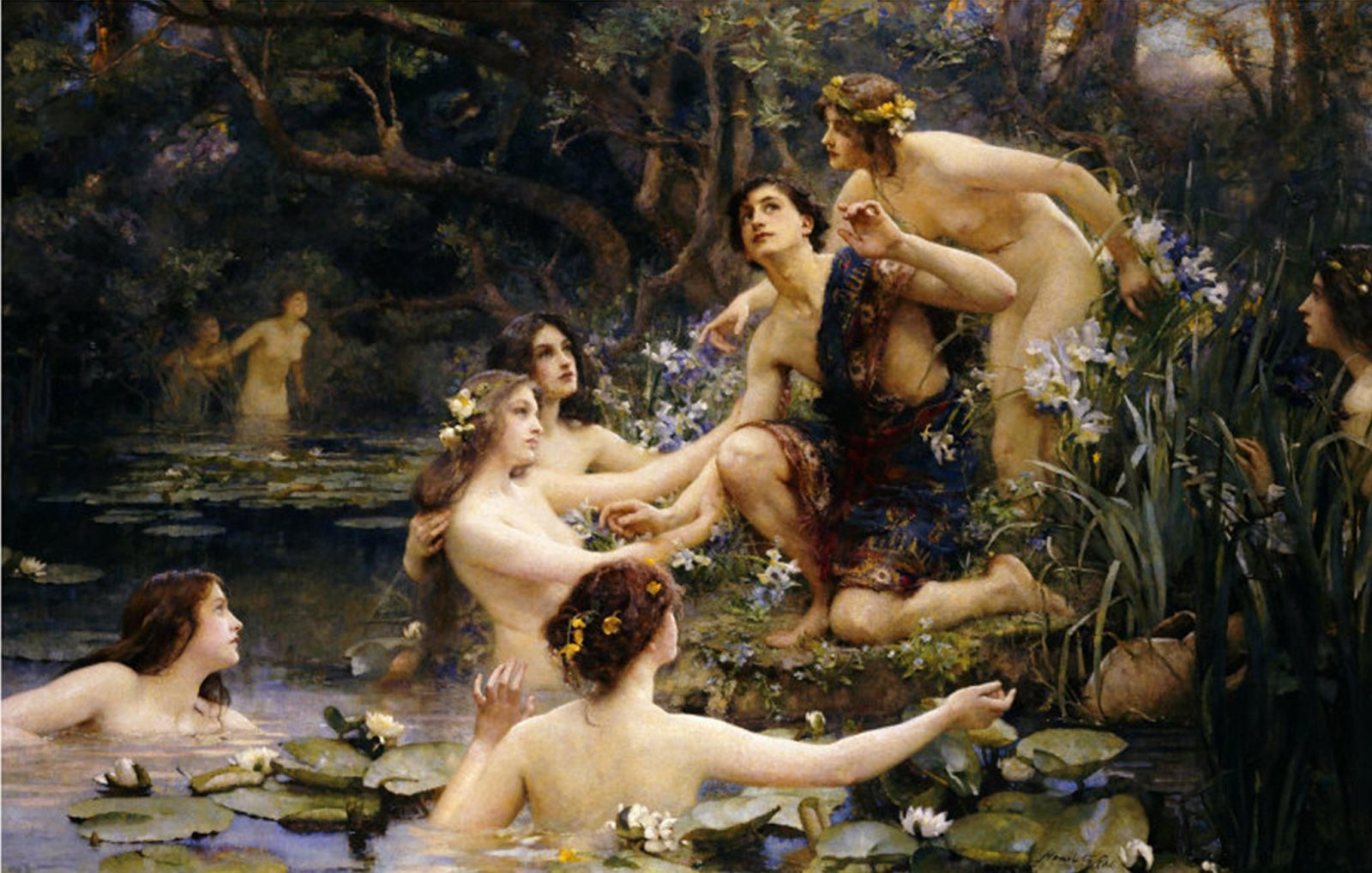 "Henrietta Ray: ""Hylas and the Water Nymphs"" (1910)"
