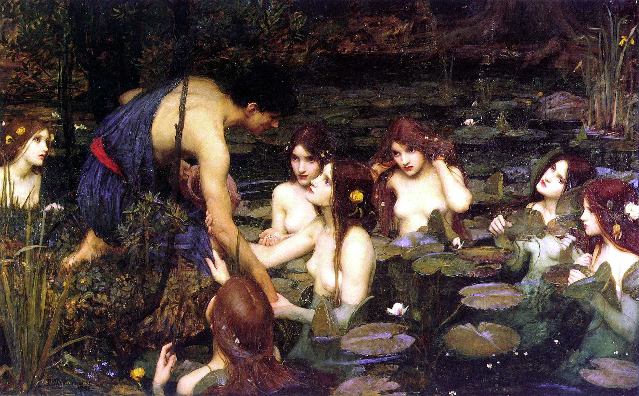 "John William Waterhouse: ""Hylas and the Nymphs"" (1896)"