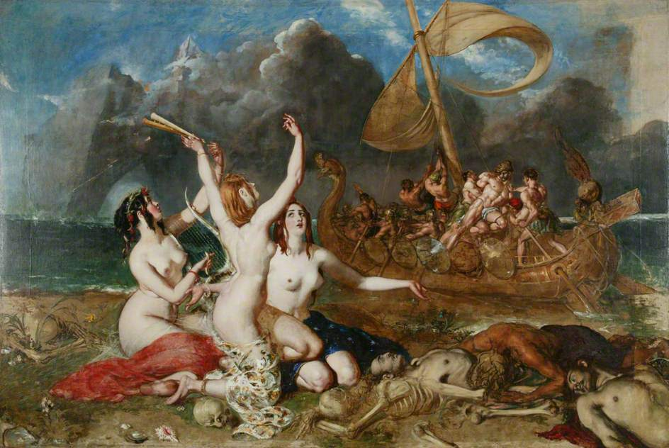 "William Etty: ""The Sirens and Ulysses"" (1837)"